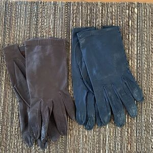 Two pairs of vintage leather gloves!